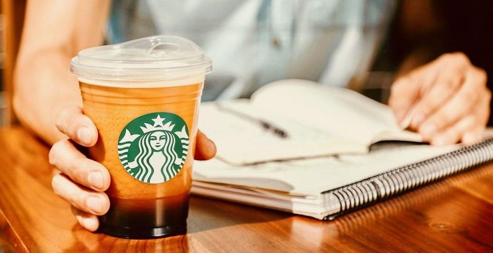 Image of Starbucks new lids made from recycled plastic